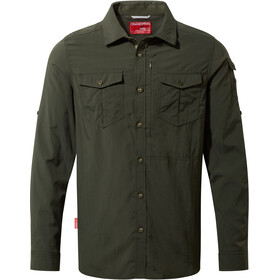 Craghoppers M's NosiLife Adventure LS Shirt Dark Khaki